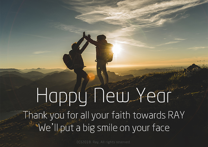 Happy New Year! Ready to reach 'THE TOP' ? Step up and join our adventure toward it with RAY.